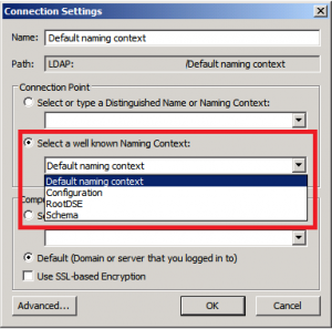 Active Directory naming contexts